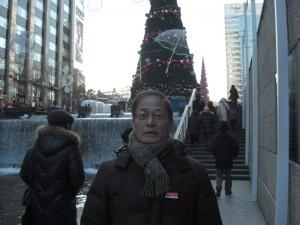 冬のソウル市内 クリスマスの雰囲気