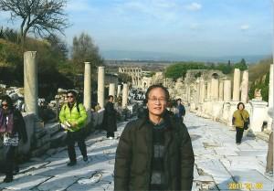 エフェソス遺跡のメインストリート