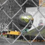 バッテリーパークにある金属の塊、(ワールドトレードセンターにあったもの)