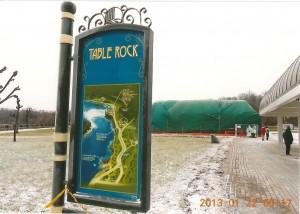 テーブルロック  Table Rock  滝の真横にある場所