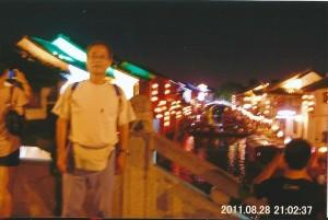 蘇州の山糖街の夜 昔懐かしい街並を今も残している 夜になると街並みに灯る明かりがとても綺麗で昼の雰囲気とまるで変わ