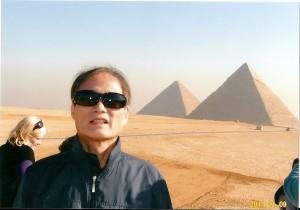 ギザの3大ピラミッド1週間後に1月下旬のエジプトの革命で見学できなくなる