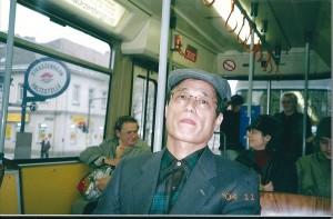 ウィーンの電車に乗る