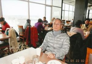 ナイアガラの滝の側のレストランで シェラトンホテル