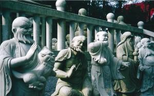 66番 雲辺寺 山頂の駅から参道をしばらく歩くと五百羅漢像