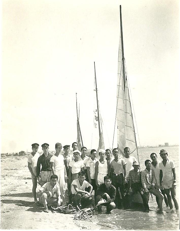 高校時代はヨット部に入っていた 名島において