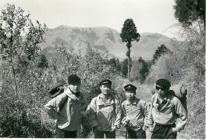 高校時代の友人井上君、佐々木君、秋吉君とハイキング