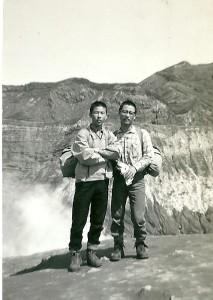 高校時代の友人秋吉君とハイキング