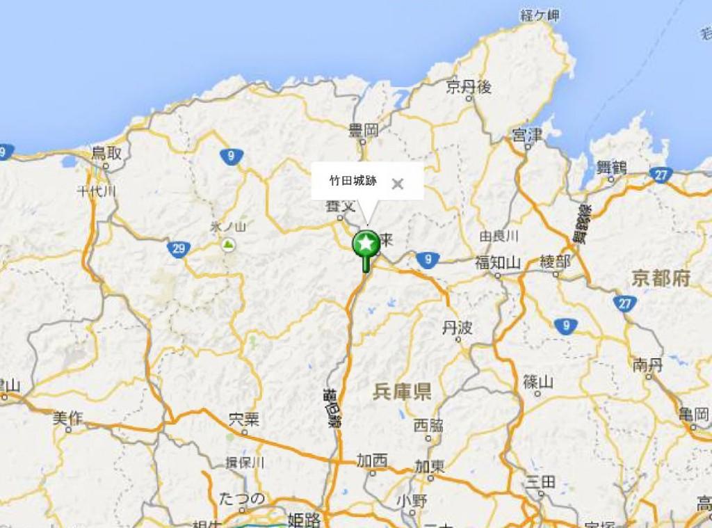 竹田城地図