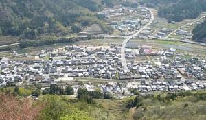 竹田城からの眼下の景色